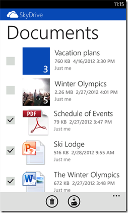 SkyDrive Windows Phone 2.2 (2)