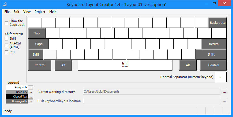 Microsoft keyboard layout creator modificare il layout for Strumento di layout piano terra