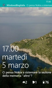 WindowsBlogItalia notifiche lockscreen per Windows Phone 8