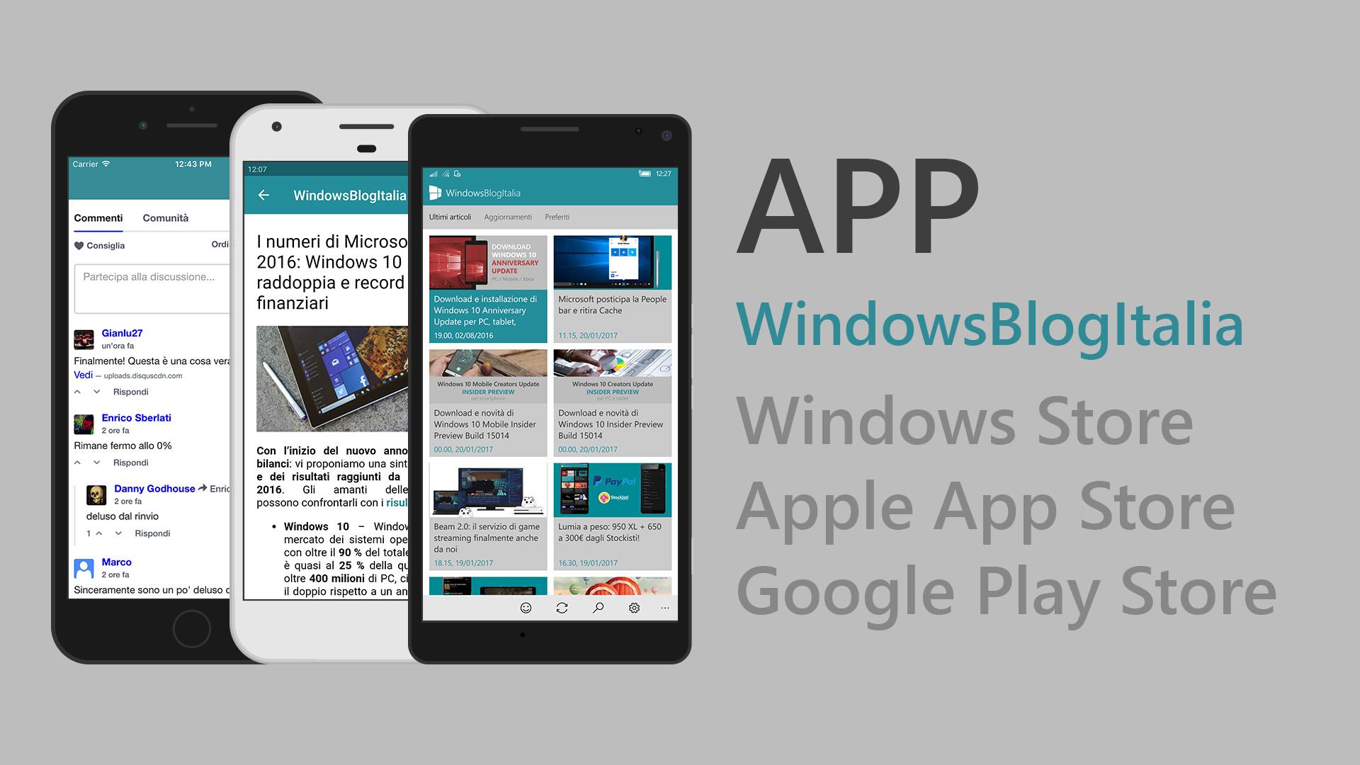 App WindowsBlogItalia multipiattaforma