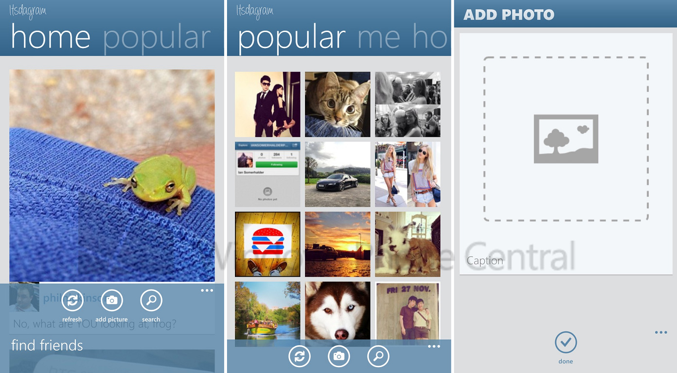 Itsagram Screens