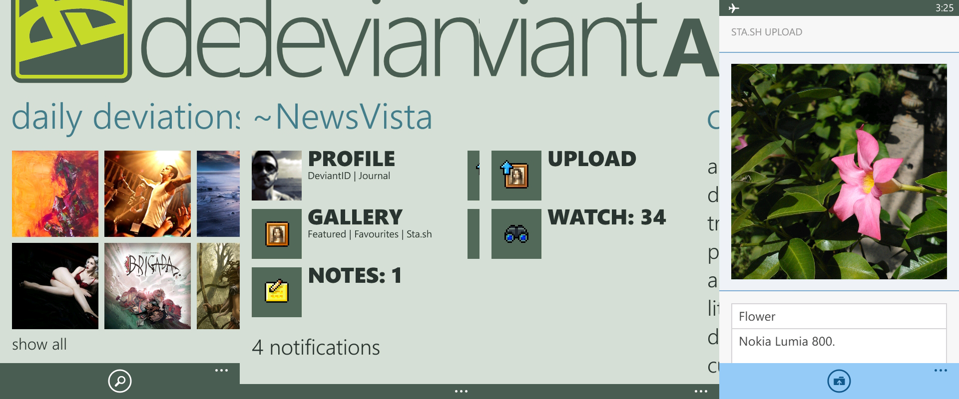 deviantAPP Windows Phone