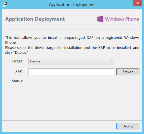 XapDeployWindowsPhone