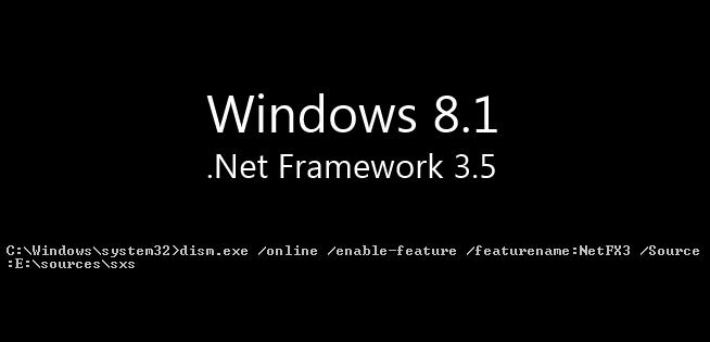 .net 3.5 windows 8.1