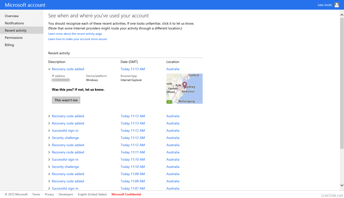 Microsoft-account-Recent-activity