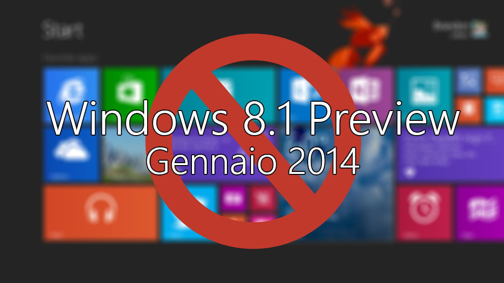 Windows 8.1 scade a Gennaio 2014