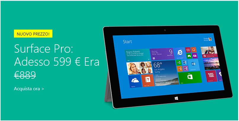 Surface Pro scontato