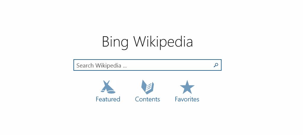 Bing Wikipedia