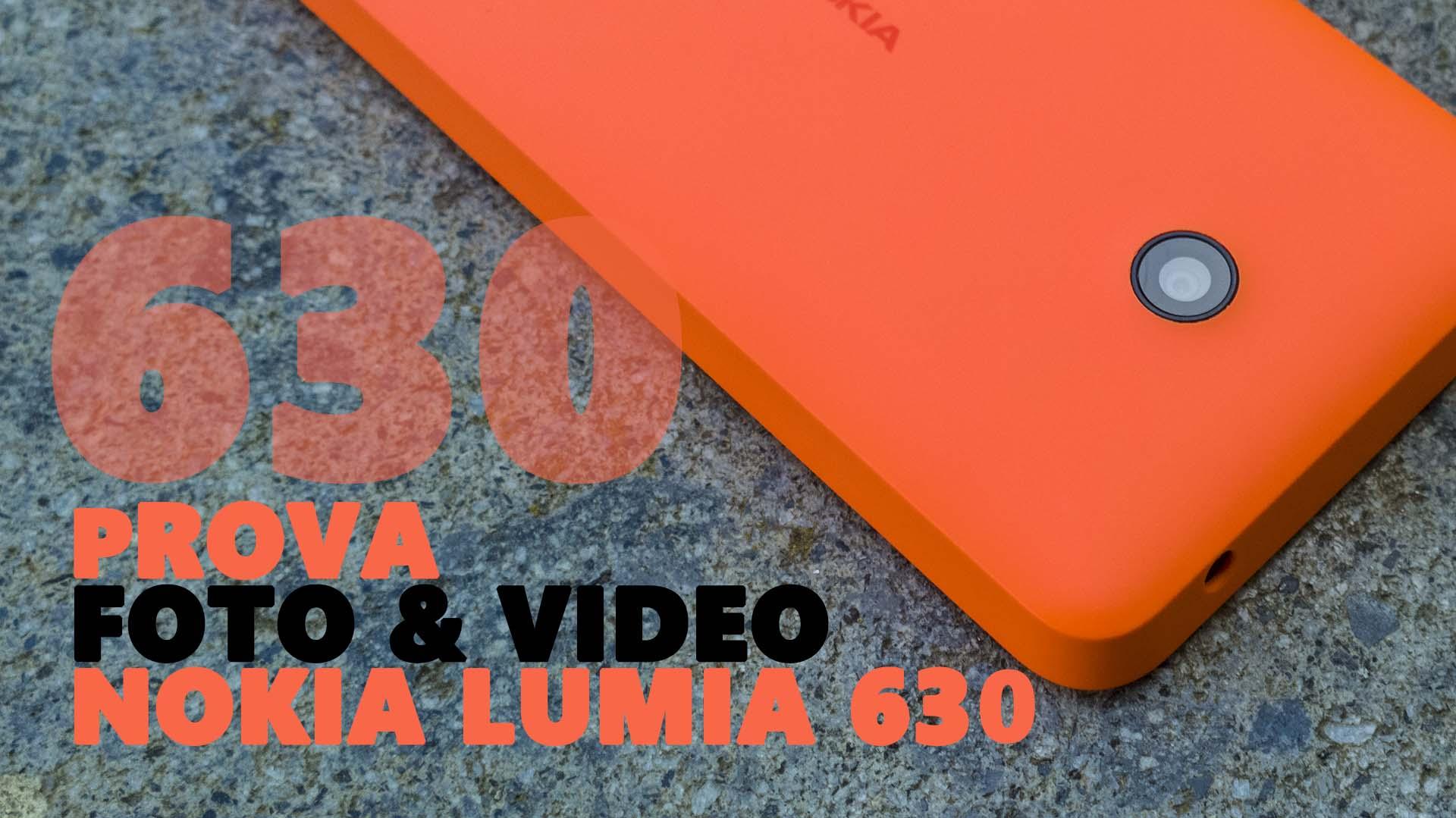Foto e Video Lumia 630