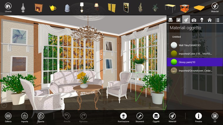 Live Interior 3D Windows 8 app designer 3ds materials forniture design (1)