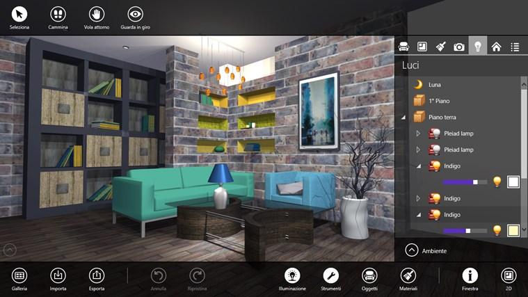 Live interior 3d una spettacolare app per designer d for Software arredo casa