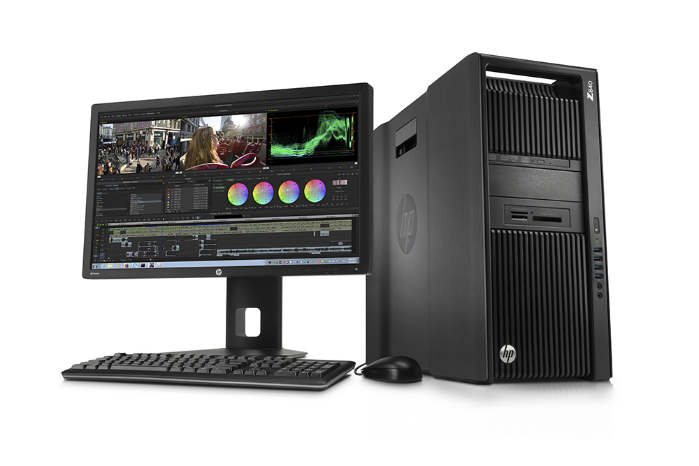 HP Z840 Workstation with HP Z27i 27-inch IPS Display high