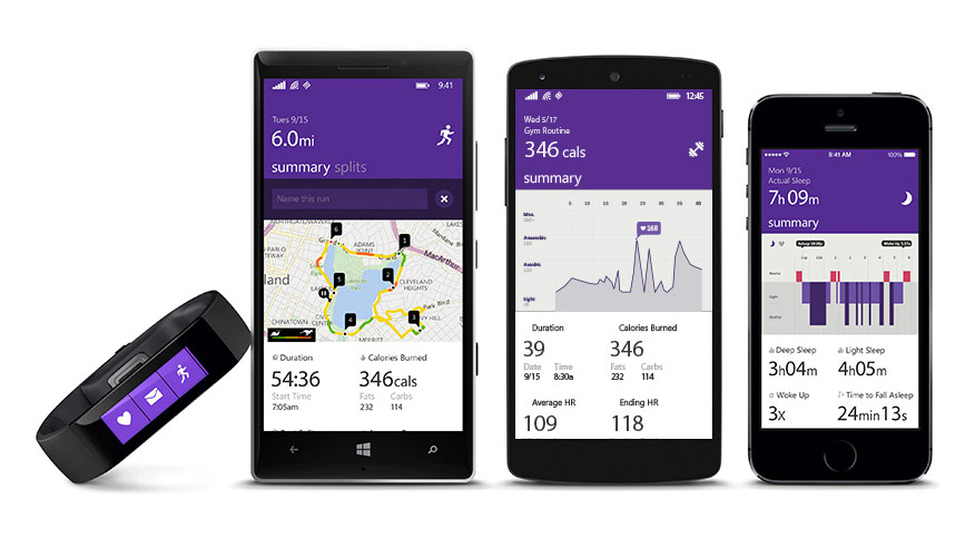 Microsoft Band Windows Phone iOS Android
