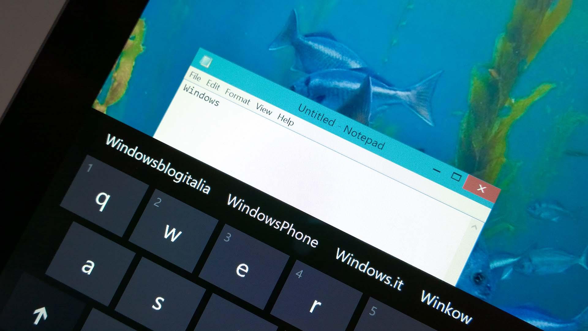 Windows 10 tastiera suggerimenti