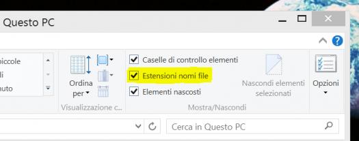 Estensioni file