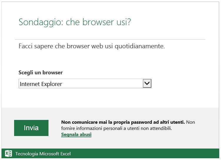sondaggio browser