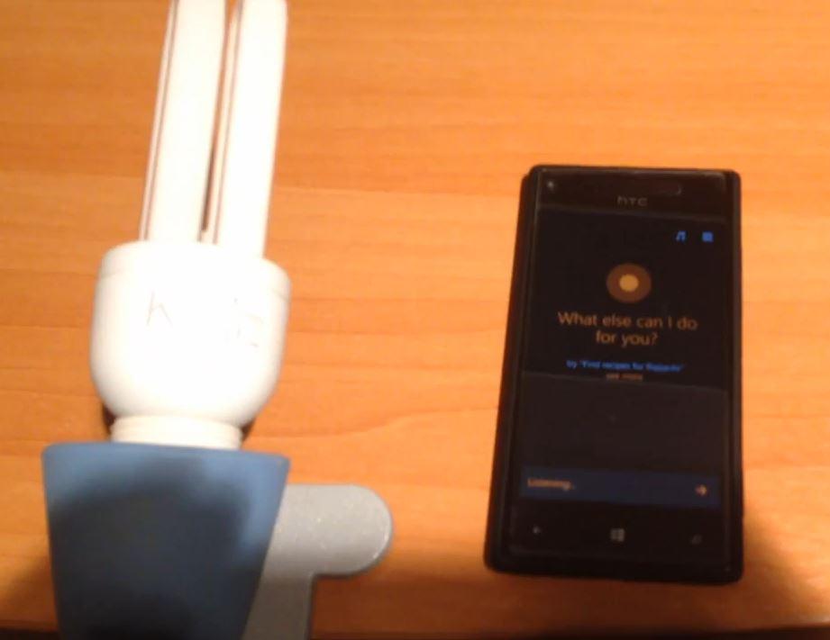 Cortana luce lampada