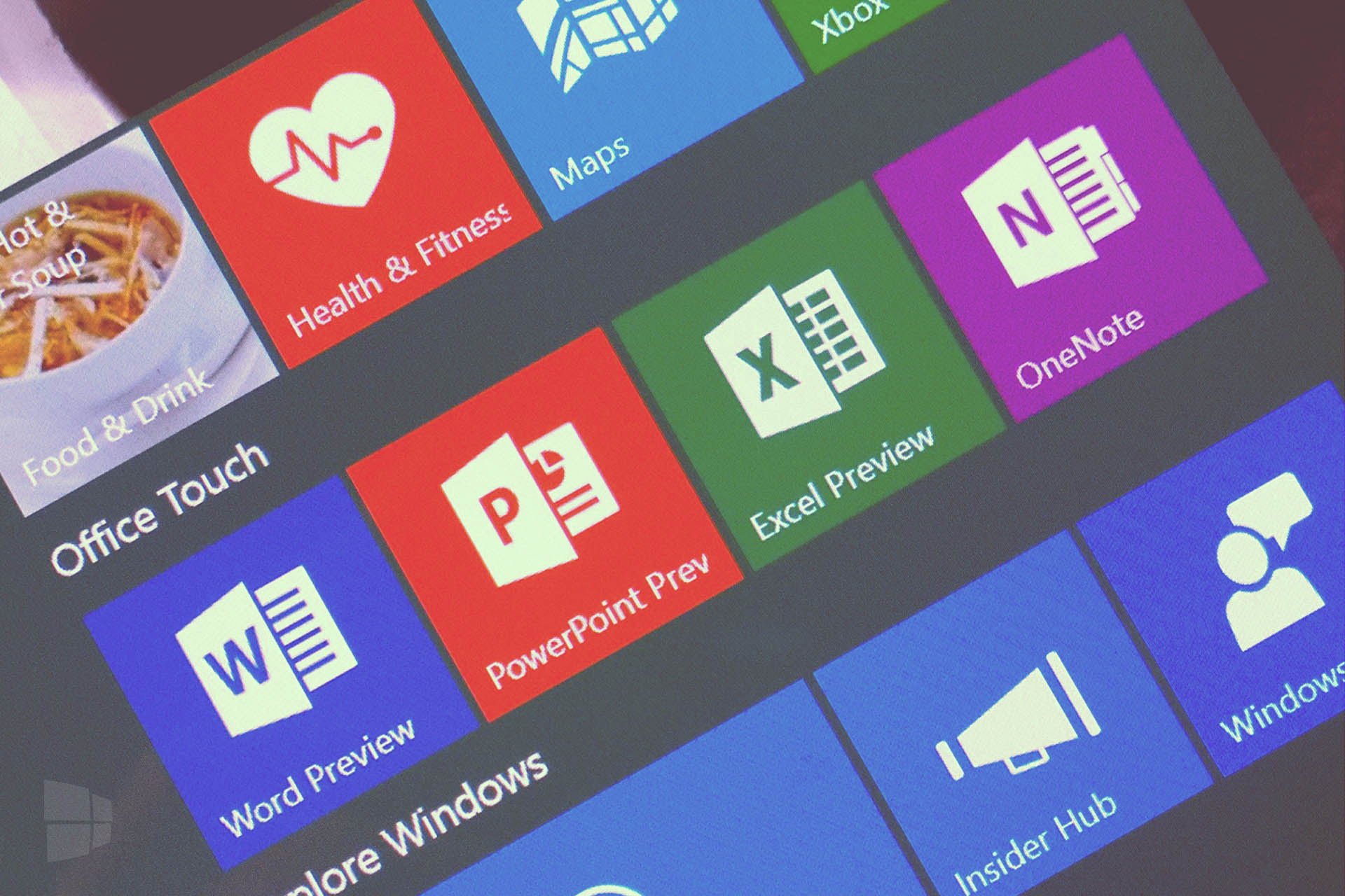 Office Touch app Windows 10