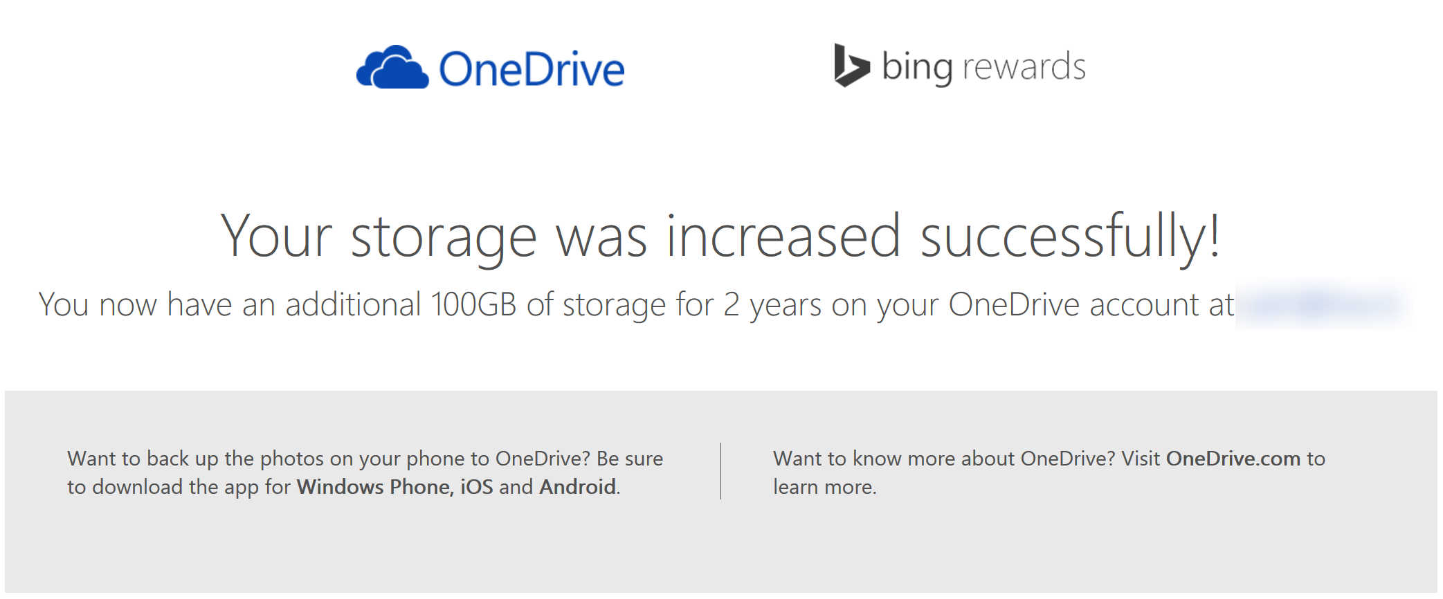 OneDrive 100GB 2