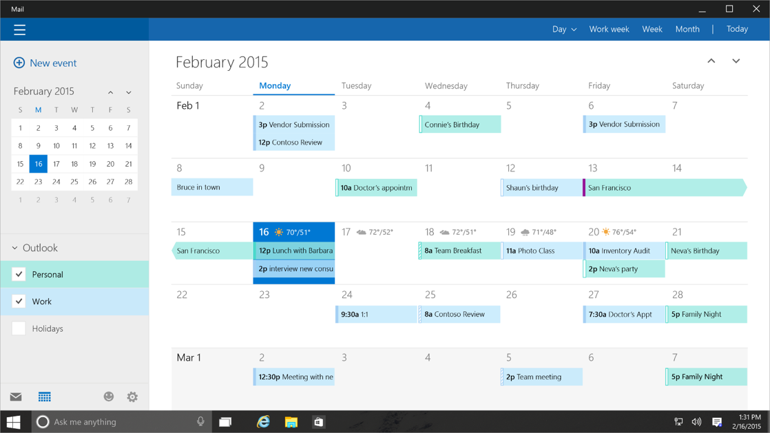 Calendario Per Pc.Il Calendario Di Outlook Diventa Piu Intelligente E Proattivo