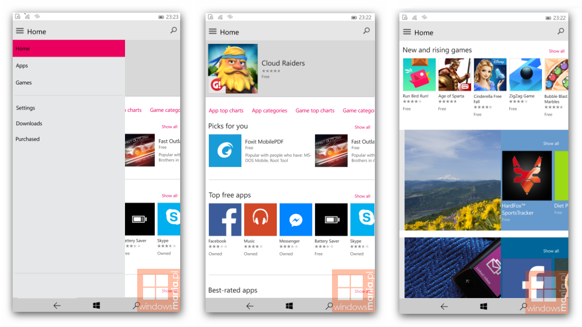 Windows 10 mobile build 12539 nuovo store e sfondi custom