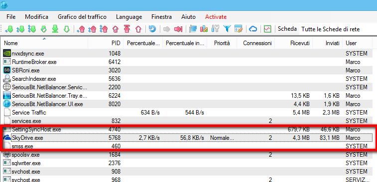 NetBalancer SkyDrive OneDrive