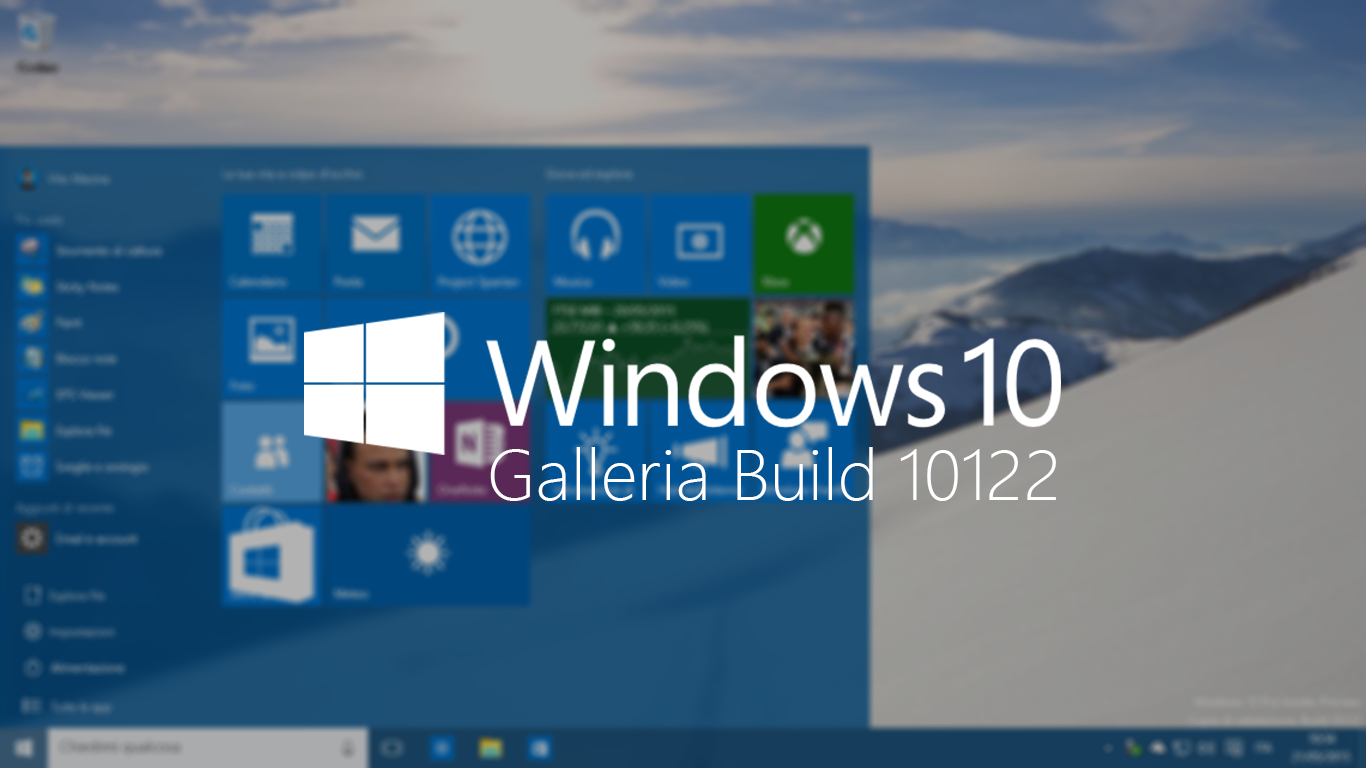 Windows 10 Galleria Build 10122