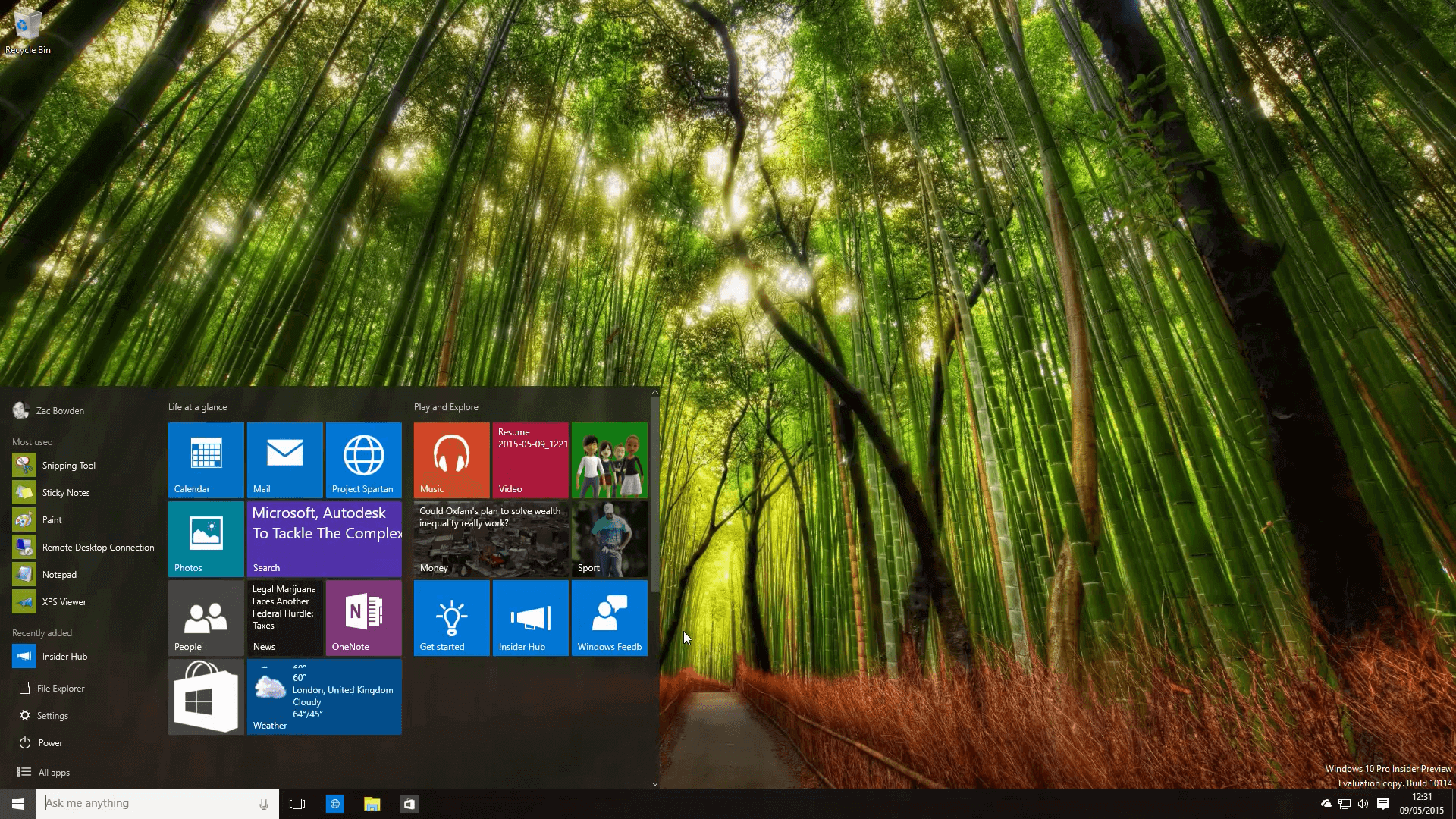 Windows10 Insider Preview - Build 10114