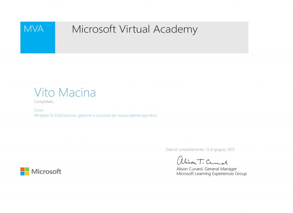 CertificateMVA