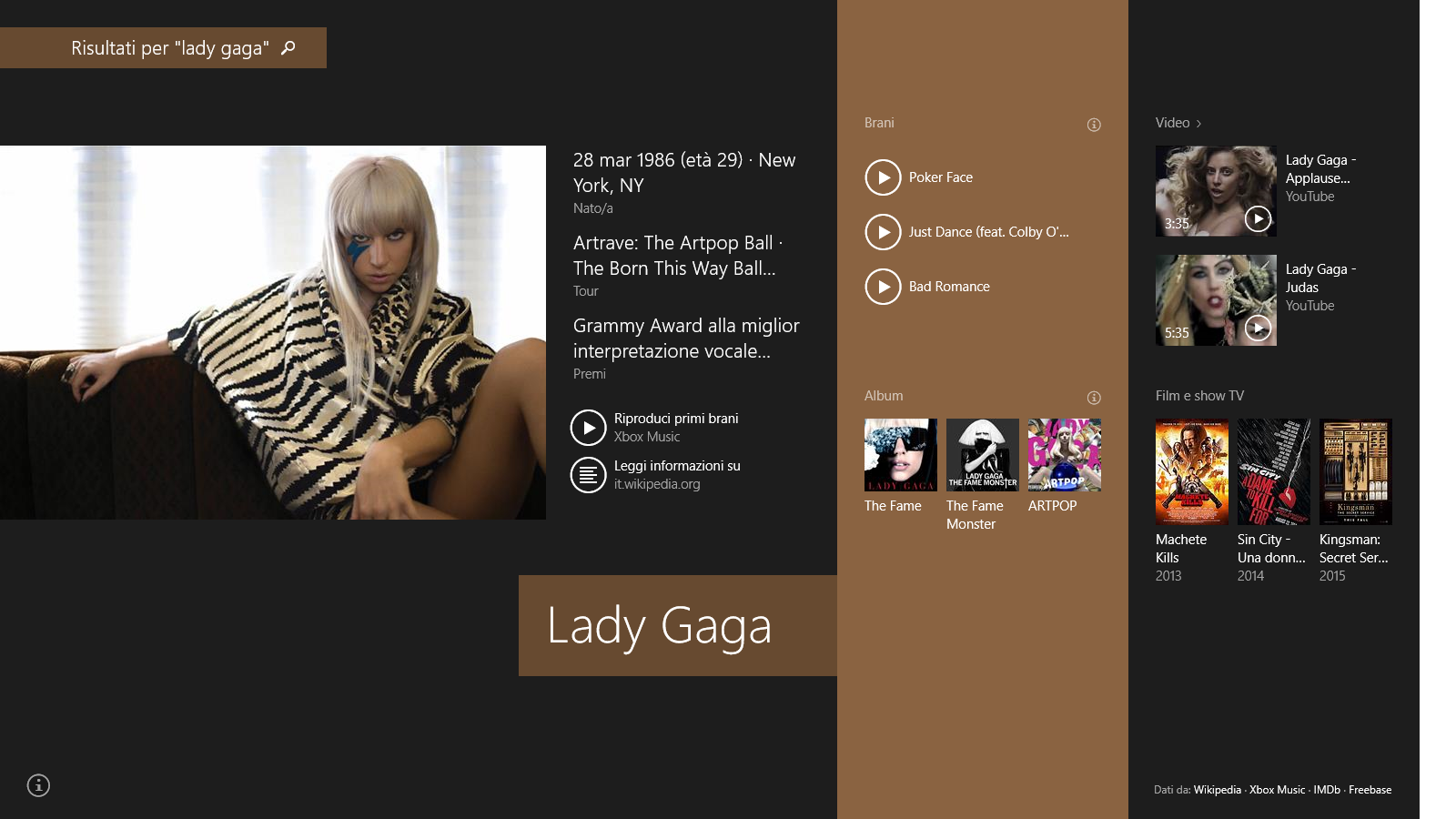 BingSmartSearch-LadyGaga