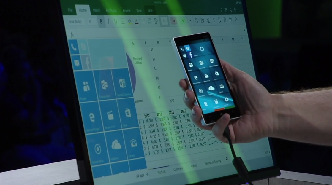 video] Microsoft: nuova demo della modalit� Continuum di Windows ...