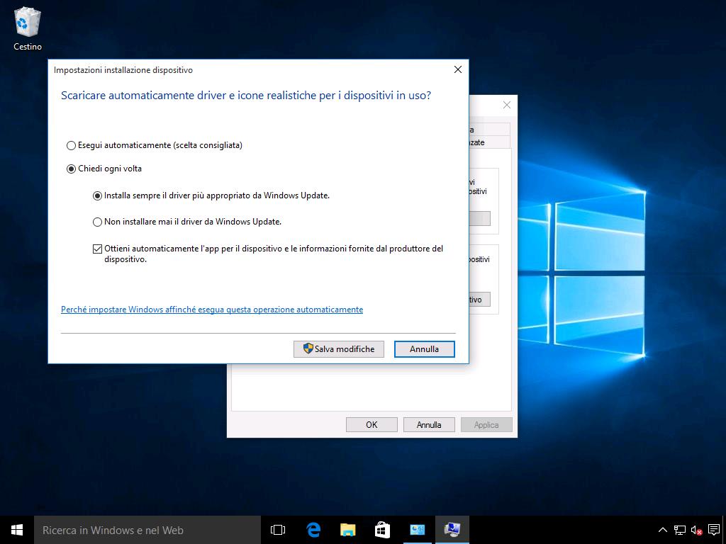 disattivare aggiornamenti automatici Windows 10