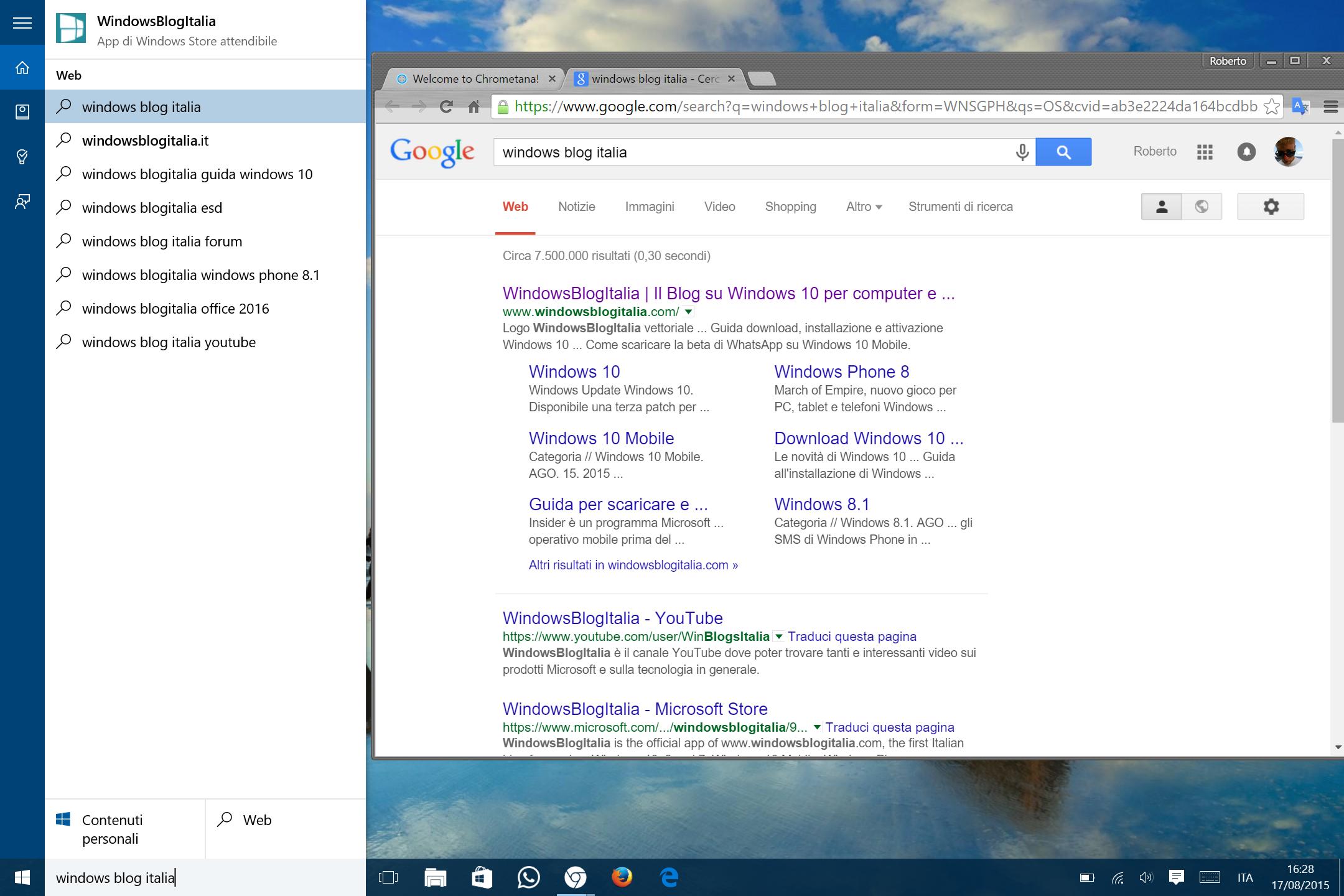 Ricerca Per Immagini Mobile come forzare cortana a fare ricerche web su google in