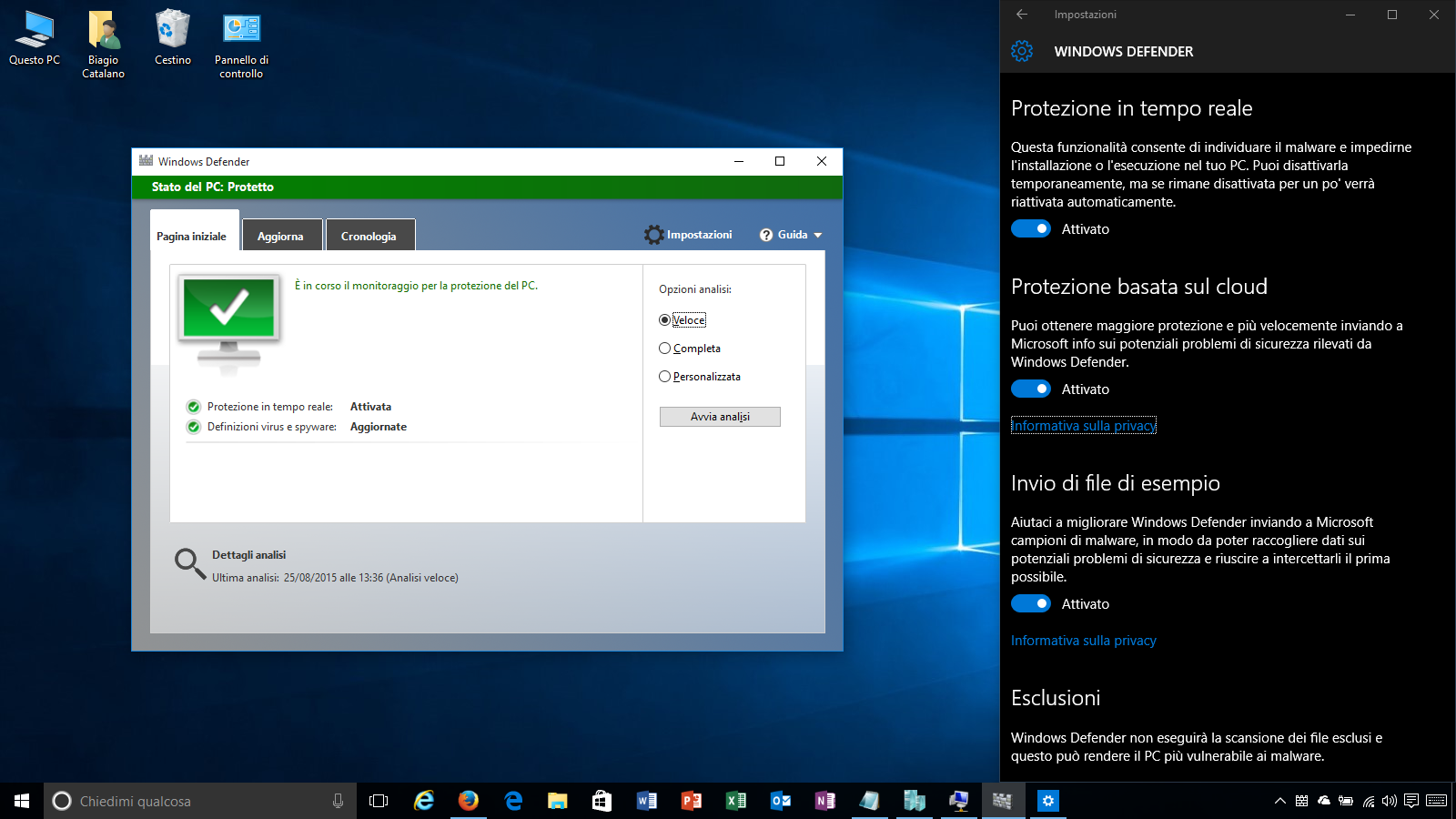 Windows 10 non necessita di antivirus, basta Windows