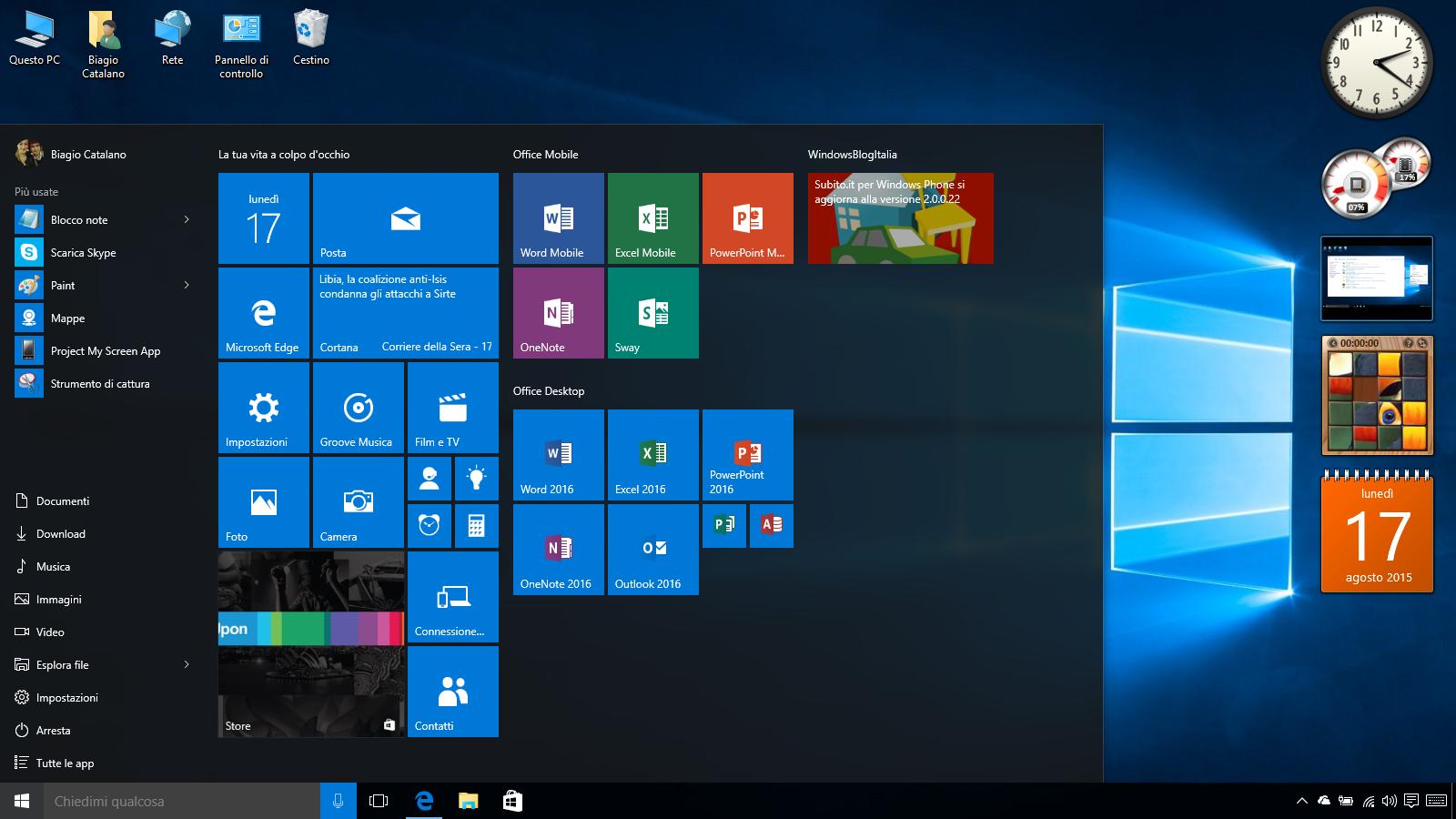 Come avere i Gadget di Windows 7 sul Desktop di Windows 10 | WindowsBlogItalia