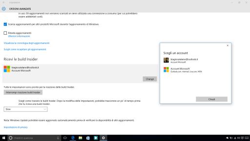 Account Microsoft build Insider Windows 10 10547