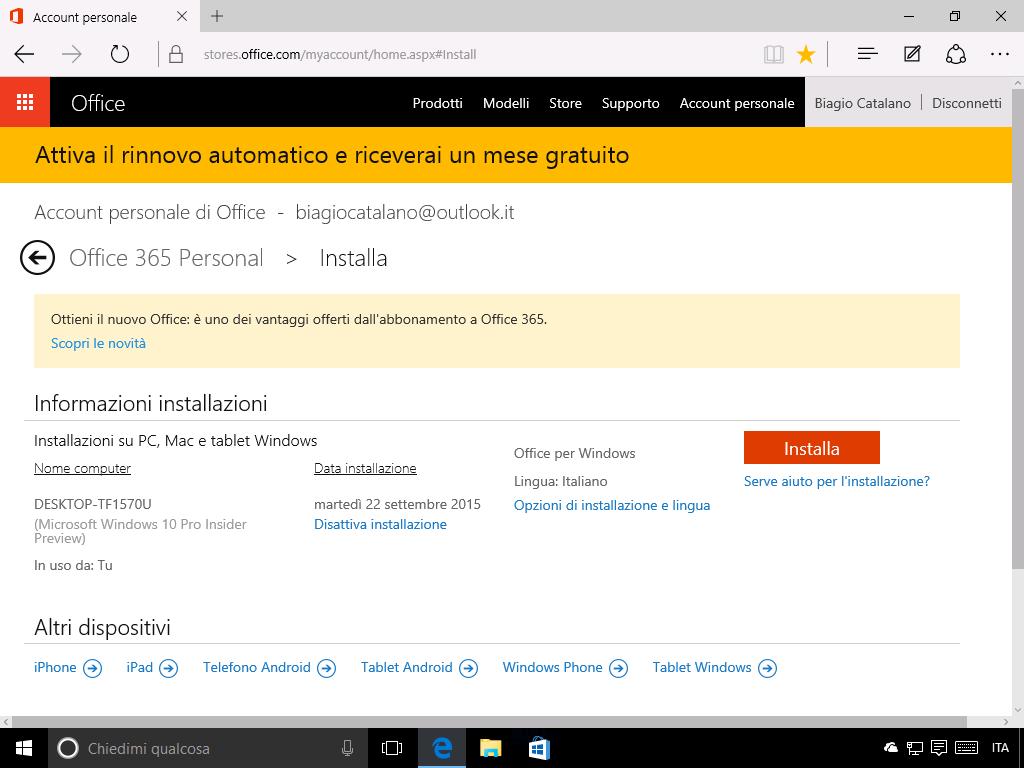 Come installare Office 365 - 2