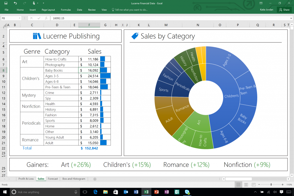 Excel-2016-New-Sunburst-Chart
