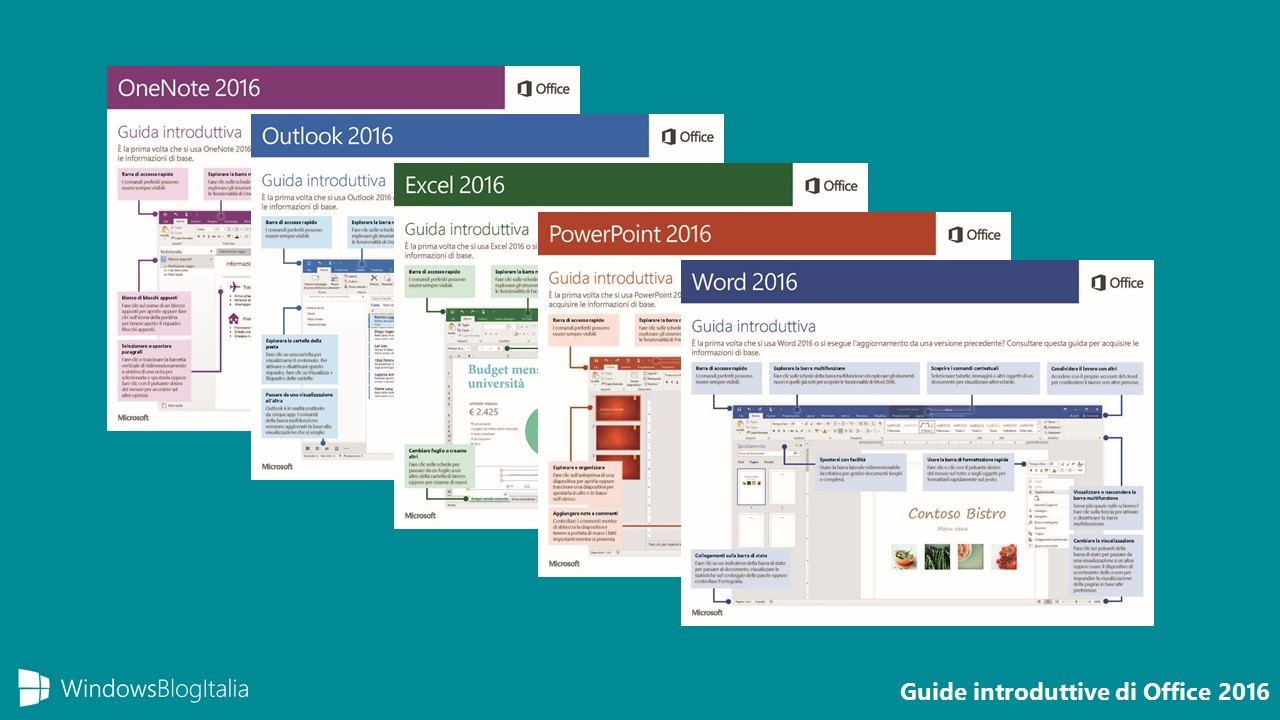 Guide introduttive di Office 2016