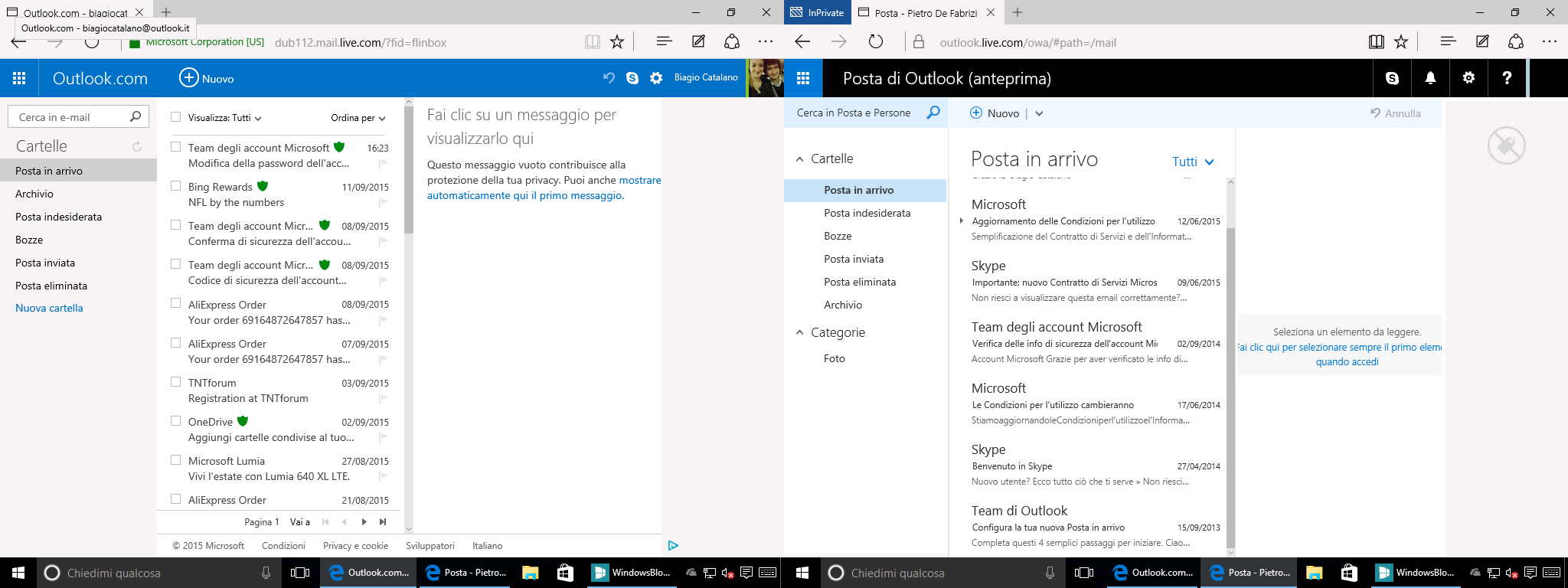 Outlook.com Prima e Dopo 1