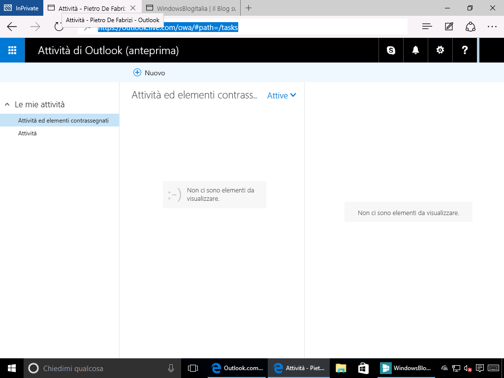 Outlook.com attivita