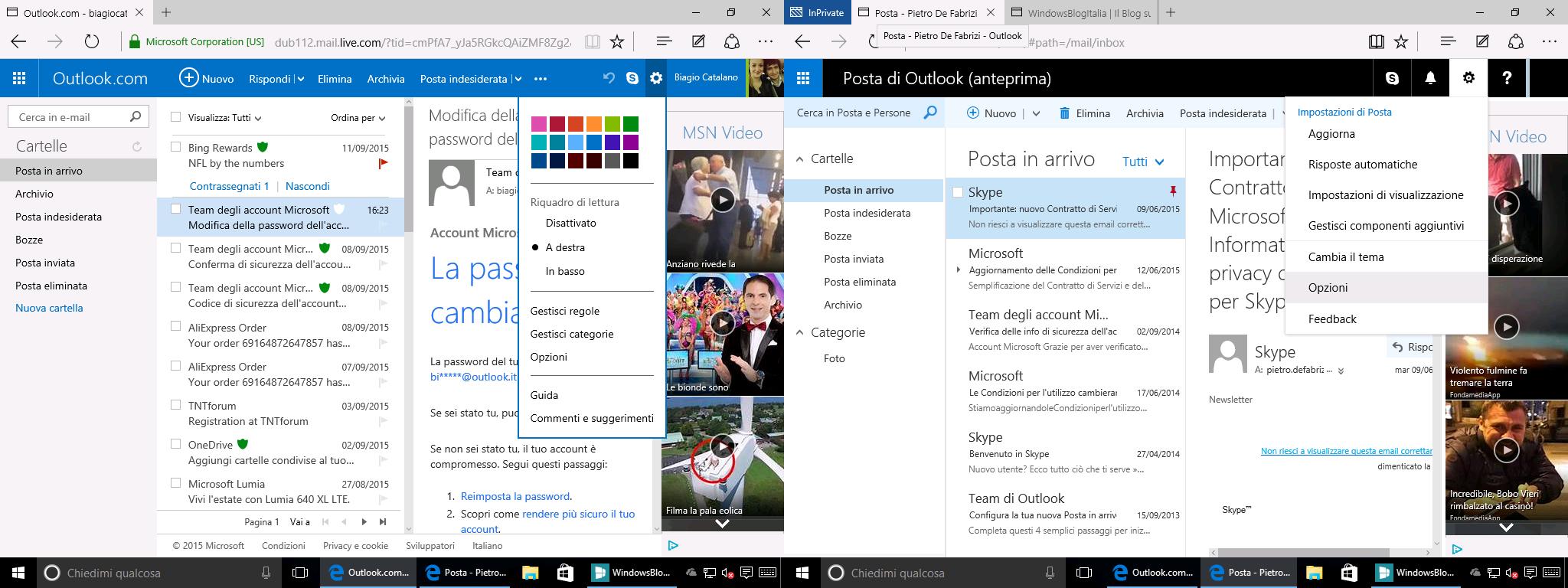 Outlook.com impostazioni