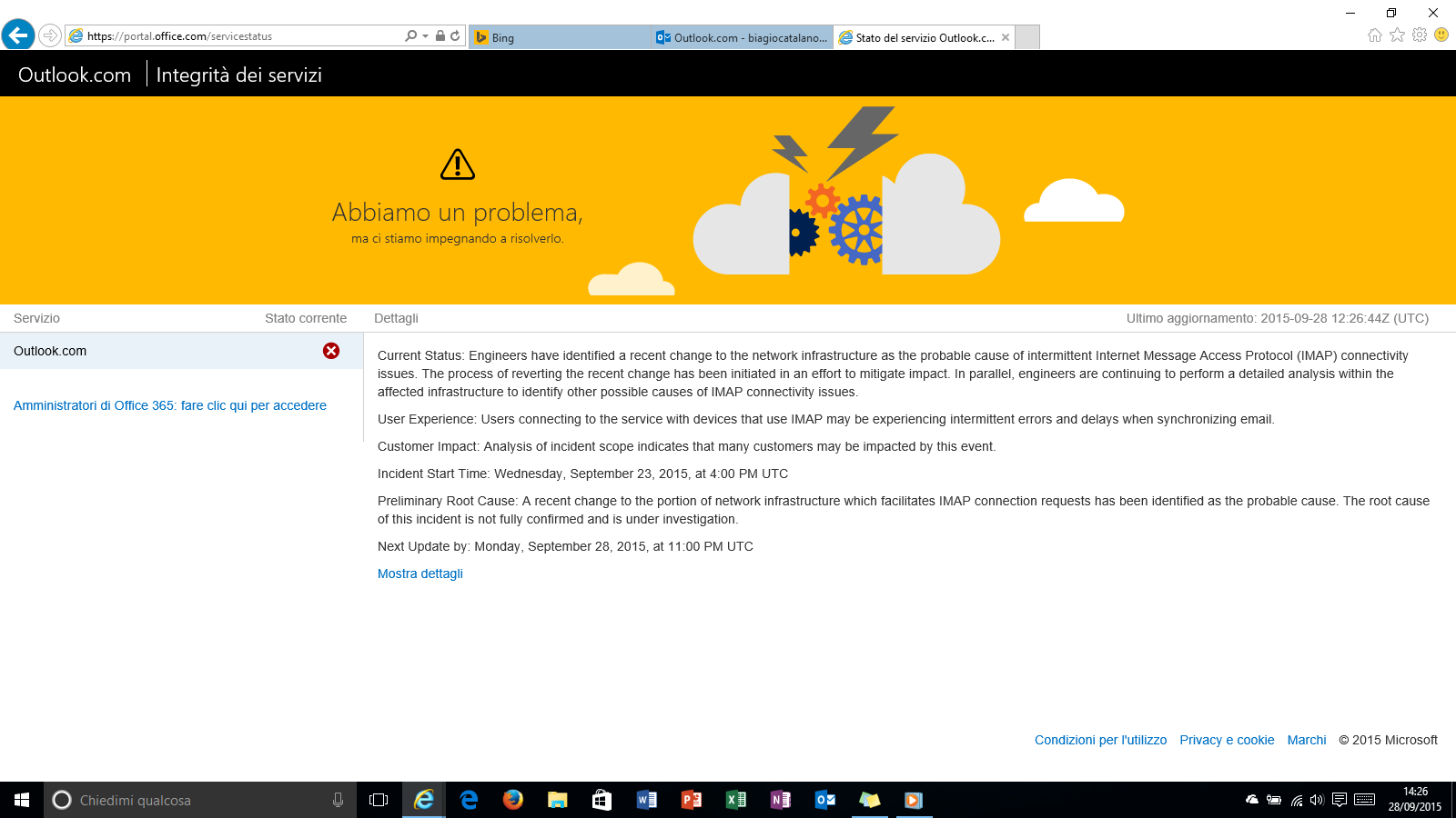 Outlook.com offline