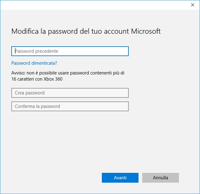 Password Windows 10 - 1