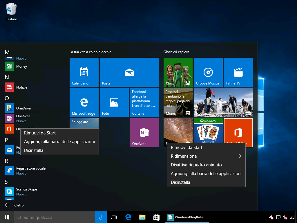 Rimuovere Ottieni Office Windows 10