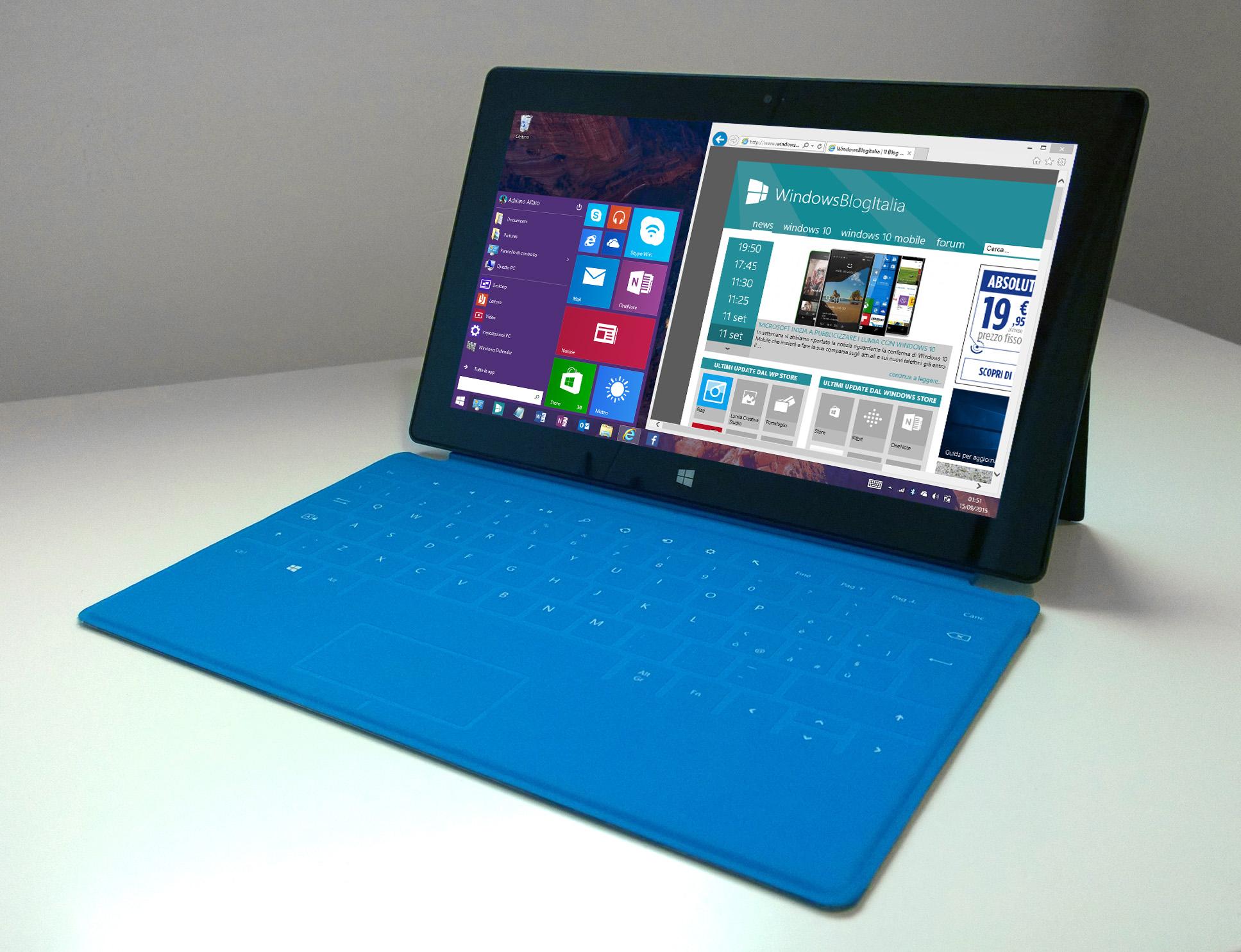 Surface RT Update 3 Menu Start