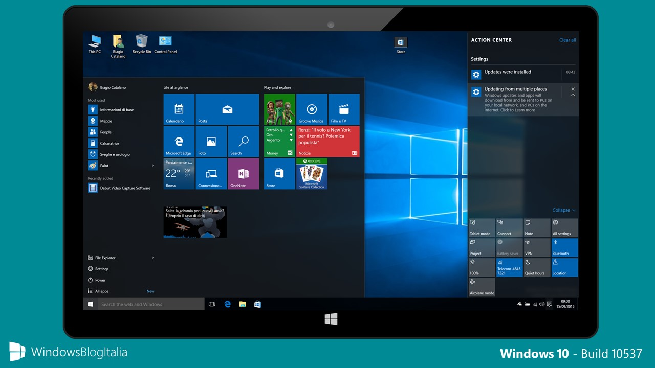 Windows 10 - Build 10537