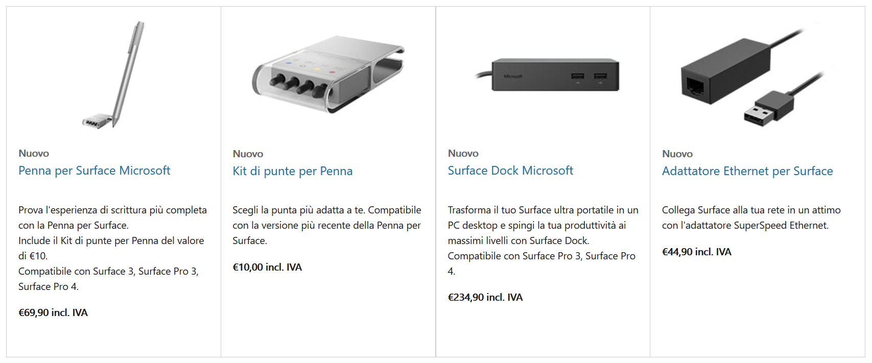 Accessori Surface Pro 4