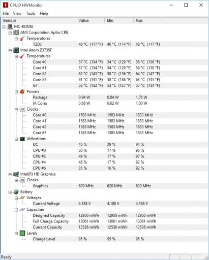 Komu Mini PC HWMonitor 000