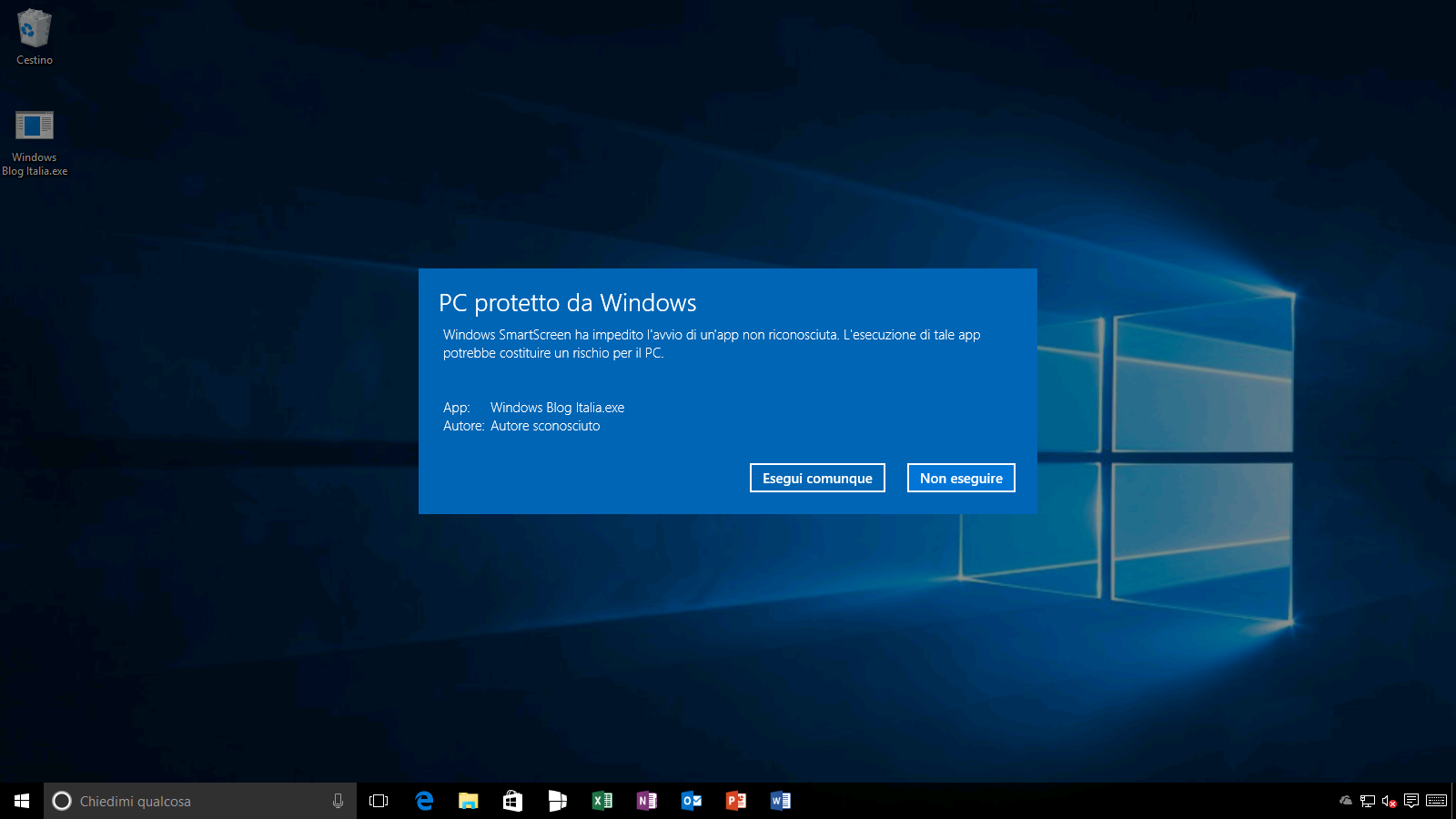 PC protetto da Windows (2) - Windows 10